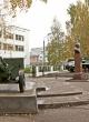 Мемориал В.А.Малышеву возле школы № 25 в г. Сыктывкаре